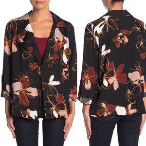NWT 14th & Union Black Floral Print Blazer Jacket
